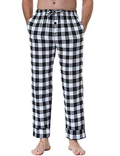 Abollria Pantalones De Pijama A Cuadros Para Hombre Lounge Wear Pijama Pantalones De Bottoms Negro L Significado De Los Suenos