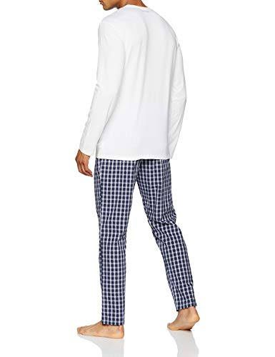 577eb7b5fd2d Calvin Klein L/s Set, Pijama para Hombre, Blanco (White Top/Stan Plaid Pant  Qwb), Medium